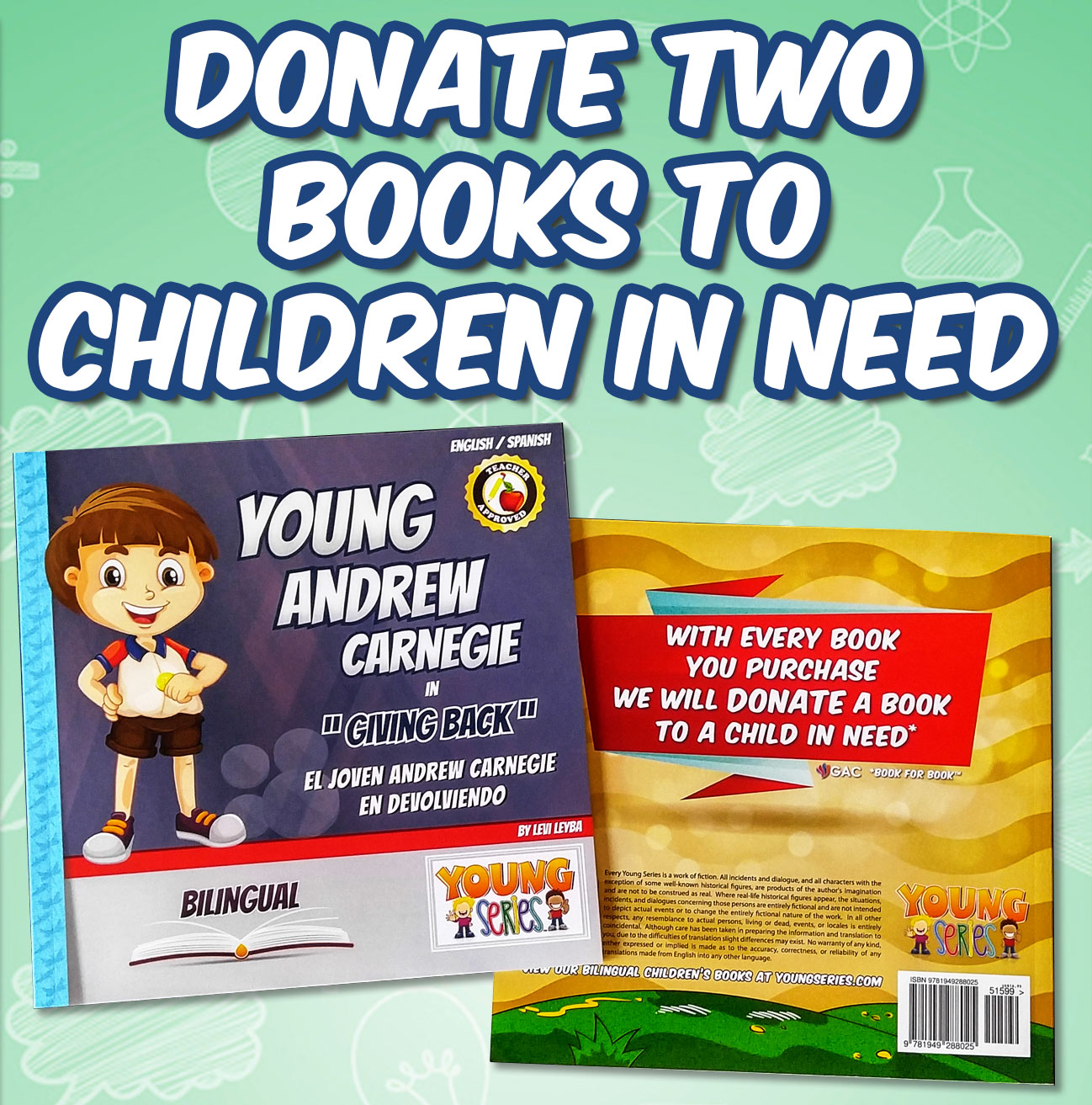 Donate Two Book to Children in Need